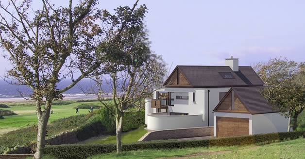 Contemporary houses self build projects small commercial for Contemporary self build homes